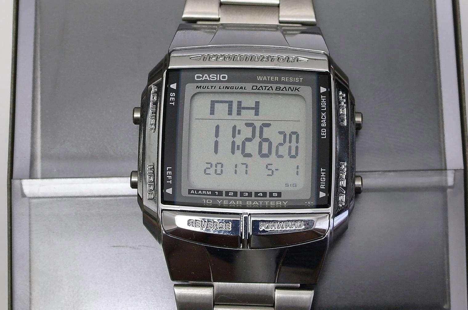 f84850df Наручные часы CASIO DB-360N-1 Data Bank — купить в интернет-магазине ...
