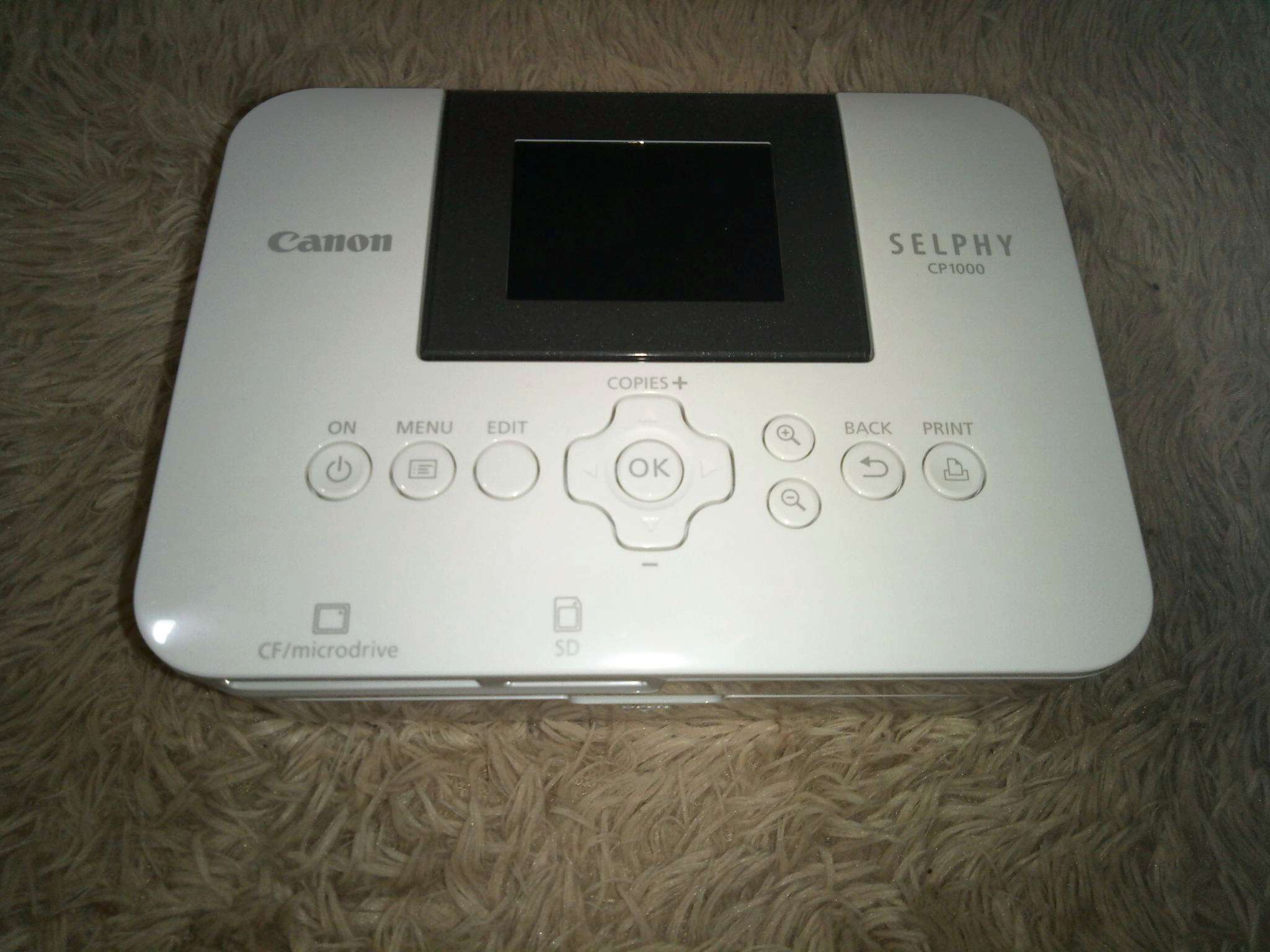 Canon Selphy Cp 1000 White Cp1000 Compact Photo Printer
