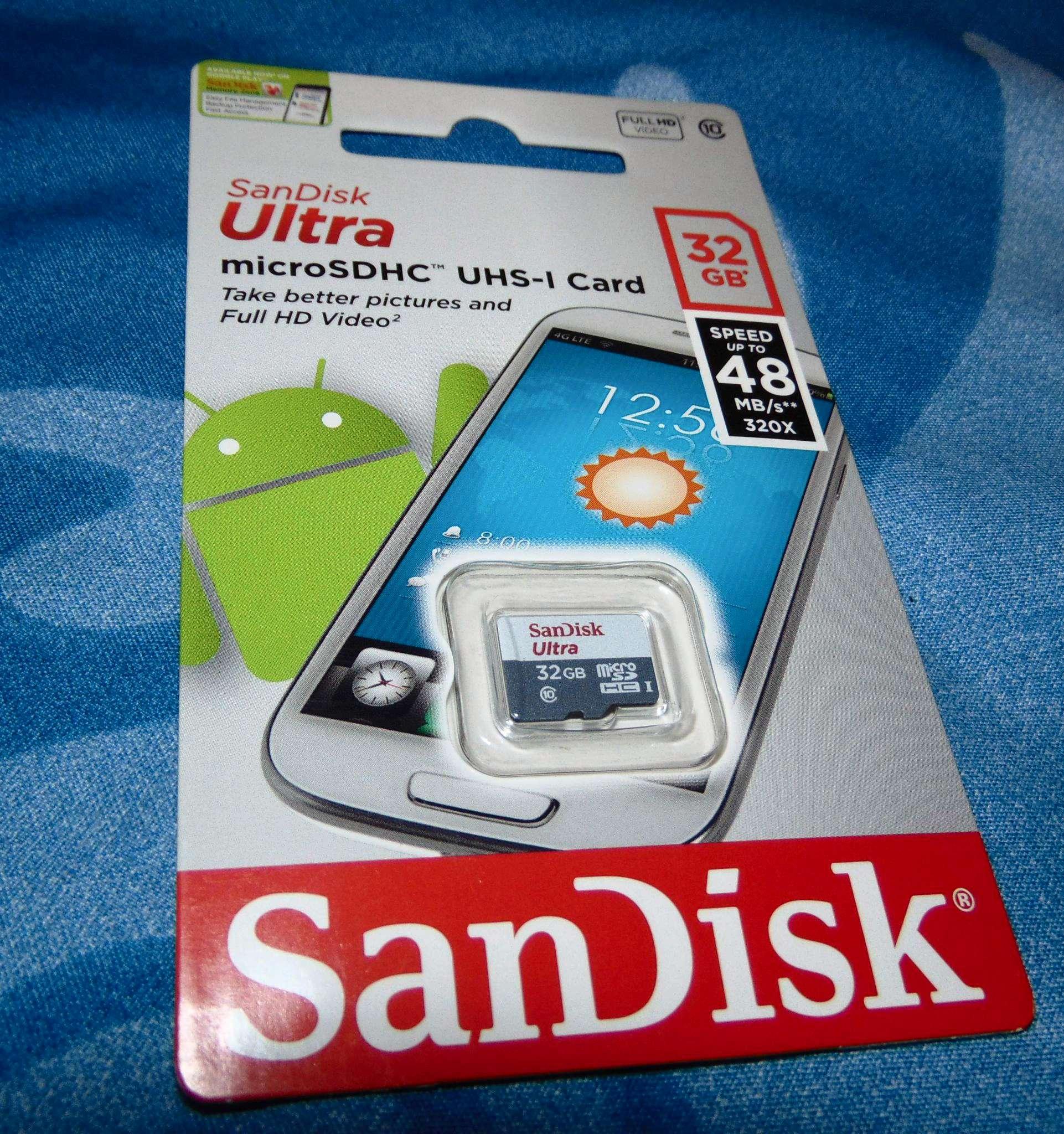 Sandisk Ultra Microsdhc 32gb Class 10 Uhs I 48 Mb S 1 Micro Sd Sdsqunb